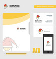 santa clause business logo file cover visiting vector image vector image
