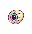 scary eyeball cartoon vector image