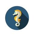 Sea Horse flat icon Summer Vacation vector image vector image