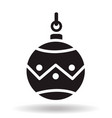 simple black flat christmas bauble ball icon with vector image vector image