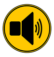 Speaker volume button vector image vector image