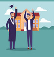 student graduation cartoons vector image vector image