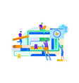 students train by digital technology infographic vector image vector image