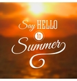 Summer background with sea sunset vector image vector image