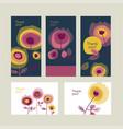 thank you creative retro postcards collection vector image
