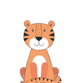 tiger cute doodle hand drawn cartoon character vector image