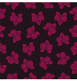 tropical orchid pattern vector image vector image