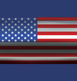 usa flag metallic wavy texture abstract background vector image