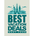 vacation deals vector image vector image