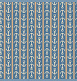 vertical nautical seamless pattern with anchors vector image