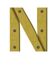 wood letter N vector image vector image