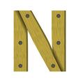 wood letter N vector image