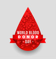 world blood donor day concept design background vector image vector image
