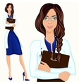 Young woman doctor vector image vector image