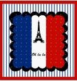 Eiffel Tower n the France Flag vector image