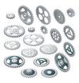 isometric big set of a gear wheels vector image