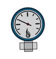 measuring gauge icon image vector image