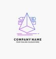 3d design designer sketch tools purple business vector image