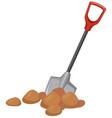 a shovel digging ground vector image