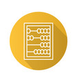 abacus flat linear long shadow icon vector image vector image