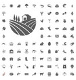 agriculture and farm icons set