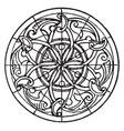 arabian bas-relief circular panel is a 14th vector image vector image