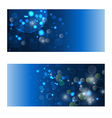 backgrounds with blue lights vector image vector image
