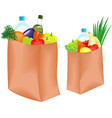 Bag with food vector | Price: 3 Credits (USD $3)