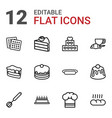bakery icons vector image vector image