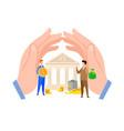 bank credit loan payment flat vector image vector image