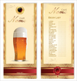Beer card template vector image vector image