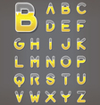 Beer letters set Beverage alphabets vector image