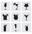 black beverages icons set vector image vector image