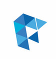 blue diamond and logo vector image