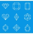 Blueprint icon set Diamond vector image