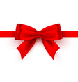 bow red tape on white background vector image vector image