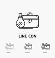 briefcase business case open portfolio icon in vector image