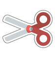 cartoon scissors school utensil vector image vector image