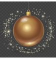 Christmas ball with gold stars Xmas design vector image