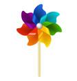 color pinwheel vector image