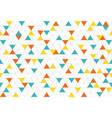 colorful abstract triangles retro paper pattern vector image vector image