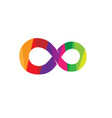 creative abstract colorful infinity symbol logo vector image