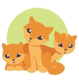 cute and funny three kittens vector image vector image
