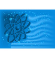 electron on a blue vector image vector image