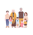 family portrait grandparents and grandchildren vector image vector image