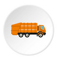 garbage truck icon circle vector image vector image
