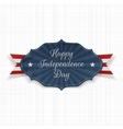 Happy Independence Day greeting paper Banner vector image