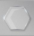 hexagon shiny glass frame isolated on fake vector image vector image