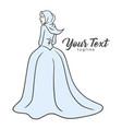 hijab fashion boutique logo lovely muslim girl vector image