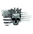 human death skull in crown vector image vector image